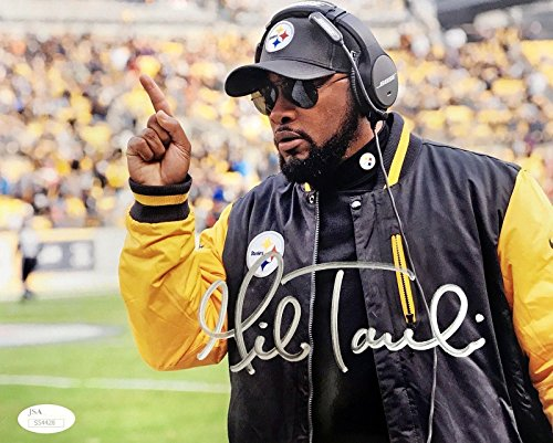 Tomlin Signed Photo - Signed Mike Tomlin Photo - 8x10 S54428 - JSA Certified - Autographed NFL Photos