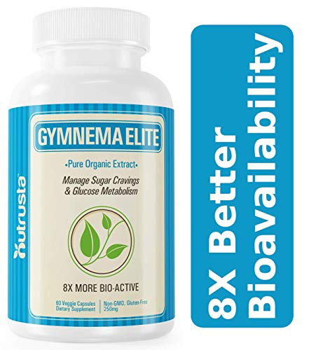 Gymnema Elite, 8X Higher Insulin* Patented Gymnema Sylvestre Organic Leaf Extract Clinically Proven, 60 Veg Caps, 60 Days ()