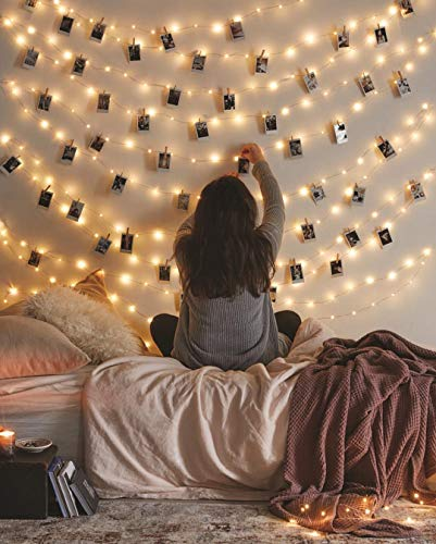 LED String Lights, Fairy Lights for Bedroom, Decorative Lights for Your Home, Hanging Lights For Room, Elegant Rope Lights Suitable for Christmas, Weddings, Parties Waterproof (33' 100 LEDs) - Vont ()
