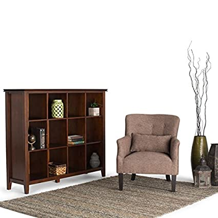 Wyndenhall Stratford Auburn Brown Pine 12 Cube Bookcase And Storage Unit