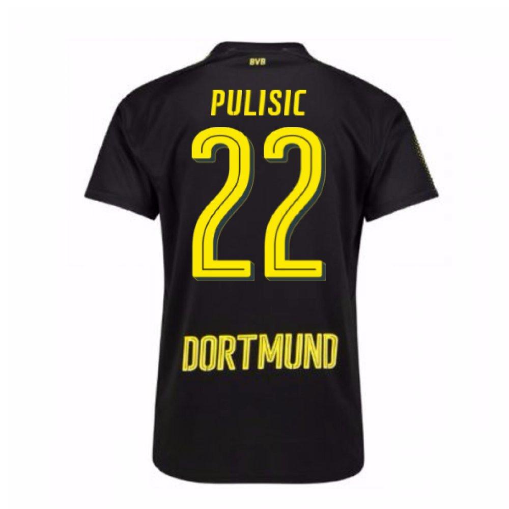 2017-18 Borussia Dortmund Away Shirt (Pulisic 22) Kids B077PV6GS3Black Small Boys 24/26\