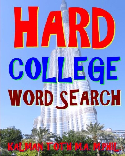 Download Hard College Word Search: 300 Challenging & Entertaining Themed Puzzles ebook