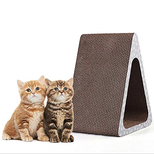 - Pet Scratch Board Triangle Cat Scratching Board Claw Pad Cat Toy Environmental Protection