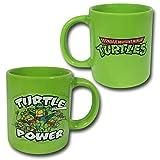 ICUP TMNT Turtle Power Embossed Ceramic Mug, 20 oz, Clear