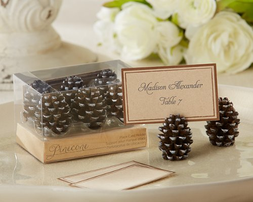 (Kate Aspen Pine Cone Place Card/Photo Holder (Set of 72) - Unique Decoration Perfect for Weddings, Bridal Showers, Baby Showers & More)