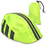 kwmobile Rain Protector Helmet Cover - Waterproof Helmet Protection Bike Helmet - Unisex High Visibility Rain Cover Cycling Riding Biking