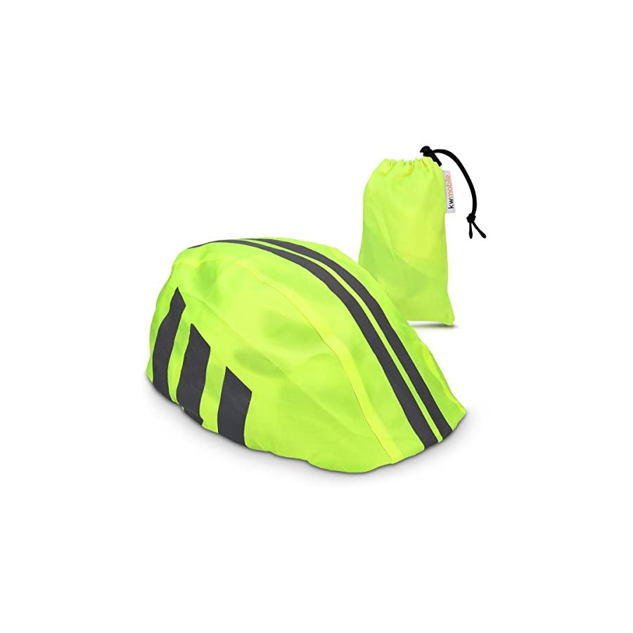 kwmobile Rain Protector Helmet Cover Waterproof Helmet Protection for Bike Helmet Unisex High Visibility Rain Cover for Cycling Riding Biking