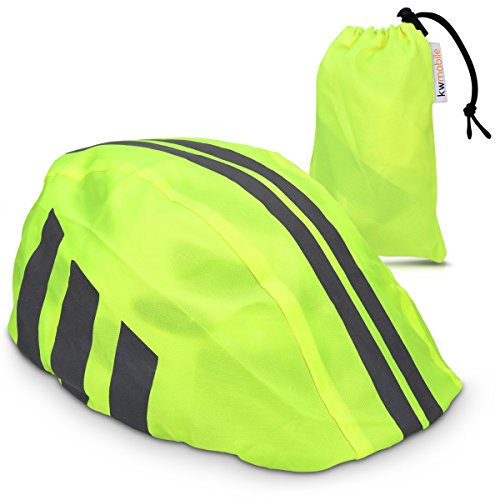 kwmobile Helmet cover rain protection for bicycle helmet Helmet protection for bike helmet Rain cover waterproof unisex Visibility