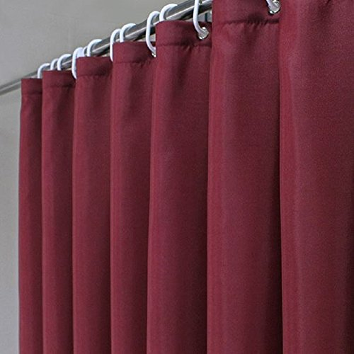 extra long fabric shower curtain - 2