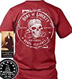 Sons of Libery Original Rebel Alliance Red/LRG T-Shirt. Made in USA