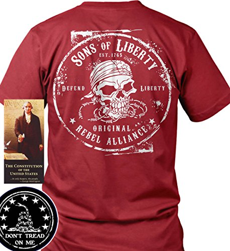 Sons of Libery Original Rebel Alliance Red/LRG T-Shirt. Made in USA by Sons Of Liberty
