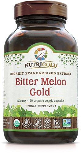 NutriGold Organic Bitter Melon Gold, 500 mg, 90 Organic Capsules ()