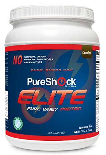 Choc pure Elite Whey Protein (chocolat) - Nutrition de qualité pharmaceutique | New Zealand herbe organique nourris concentré protéique de lactosérum, Hormone 100 % libre, étalon-or de la protéine, L-glutamine, Glycine, Taurine, Aminogen pour Absorption,
