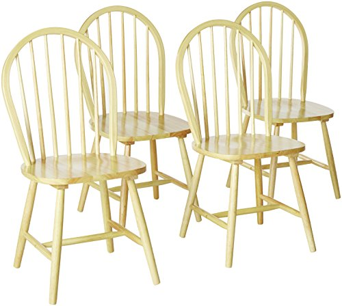 (Benson Windsor Dining Side Chairs Natural (Set of 4))