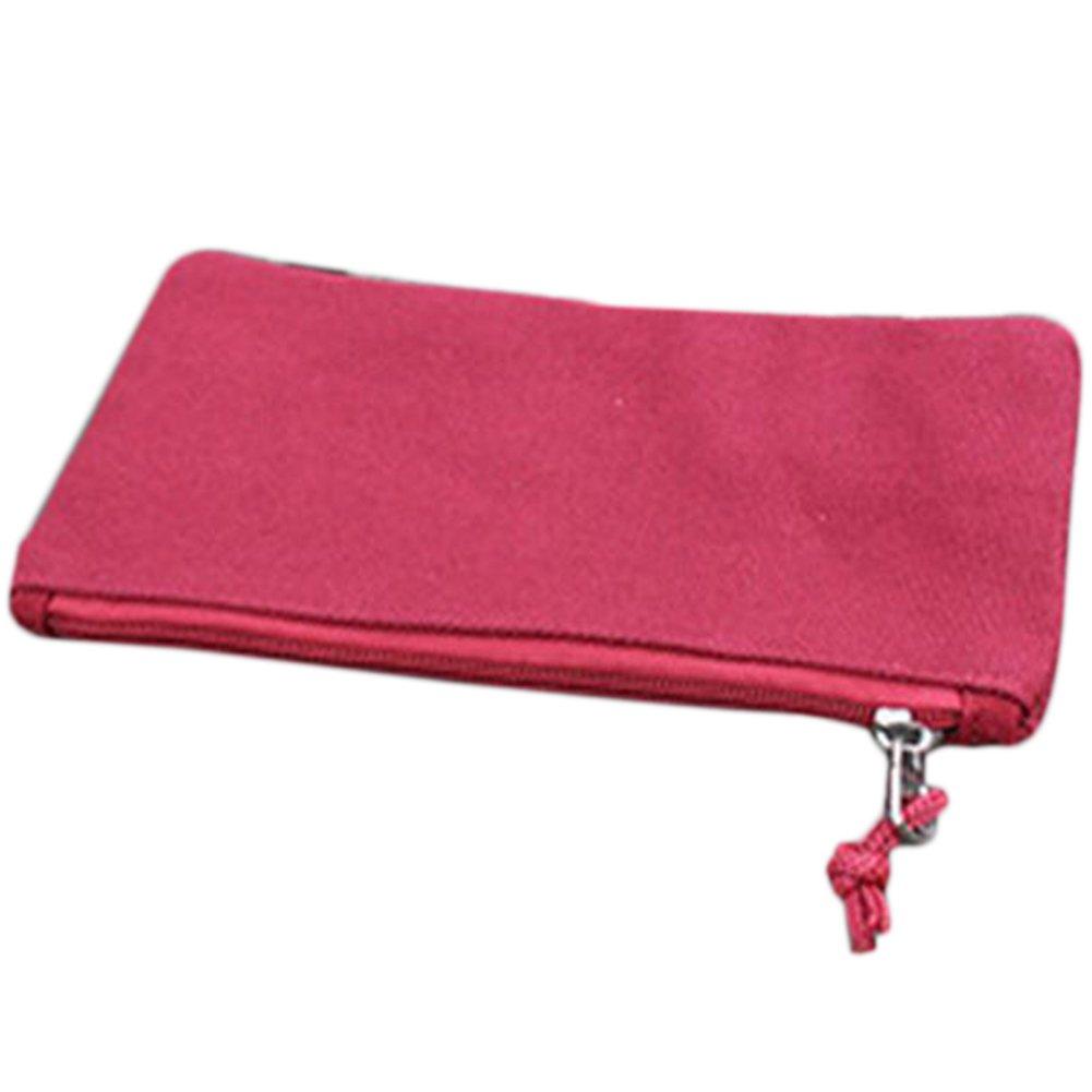 Cosanter di matita della tela colore solido design portatile per occhiali da trucco per studenti bianco Blue