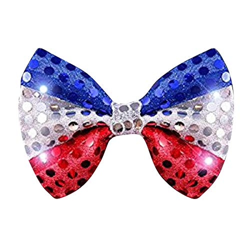 Red White & Blue LED Light Up Flashing Bow Tie by Mammoth Sales