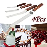 Dreamyth 4Pcs Cake Decorating Lcing Spatula Stainless Steel Offset Frosting Spatulas