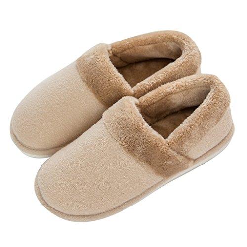 Hausschuhe DWW Baumwolle Dicke Männliche Warme Rutschfeste Stumm Innen und Außen hygroskopischen Kalten Bequeme Schuhe Braun