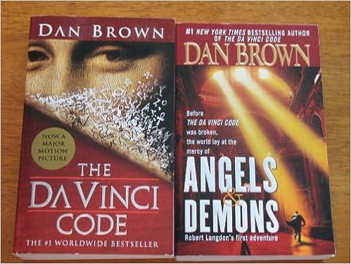 Angels Demons And The DaVinci Code 2 Book Set Dan Brown Amazon Books