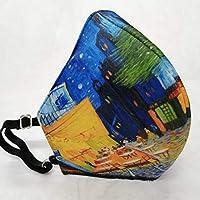 MEXI-K9 Cubrebocas lavable, ajustable y reutilizable 4 capas Van Gogh