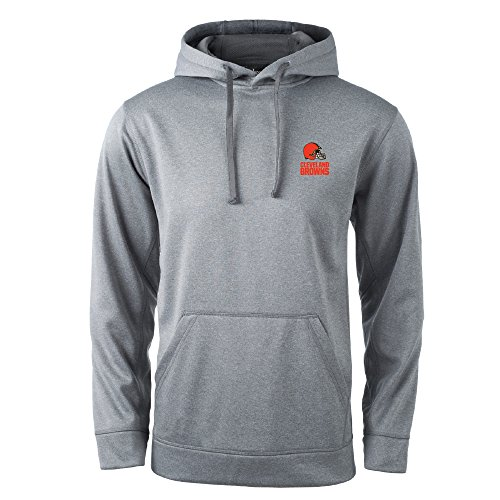 Cleveland Browns Heather - NFL Cleveland Browns Champion Tech Fleece Hoodie, Small, Heather Grey