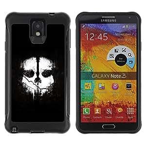 Suave TPU Caso Carcasa de Caucho Funda para Samsung Note 3 / Two Face / STRONG