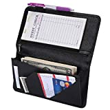 Server Book with Zipper Pocket Waitress Book Restaurant Waitstaff Organizer Fit Server Apron with Money Pocket 5'' X 9'' (Big Volume with Magnetic Closure)