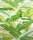 Tommy Bahama Banana Leaves 6 Napkins for Tablecloth Green Indoor Outdoor Water-Repellent Summer Picnic Patio