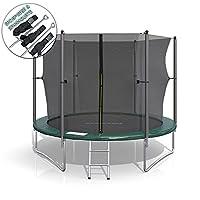 XL Trampolin 305 cm Gartentrampolin Komplettset mit Netz innenliegend Leiter...