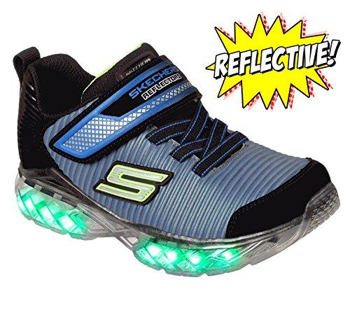 Skechers Kids Boys' Recharger-90701L Sneaker,black/royal,13 Medium US Little ()