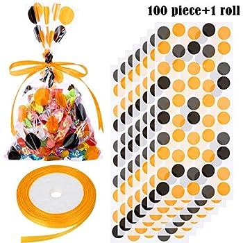 Amazon.com: Boao 100 bolsas de celofán para Halloween ...