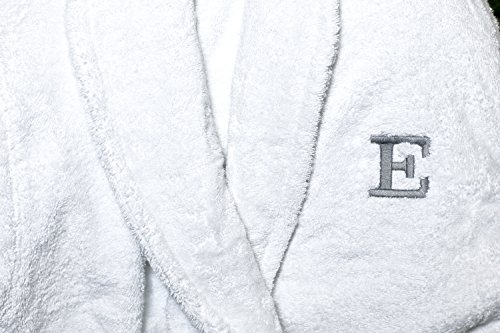 Comfy Robes Personalized Men's Deluxe 20 Oz. Turkish Cotton Hooded Bathrobe, XXL White by Comfy Robes (Image #7)