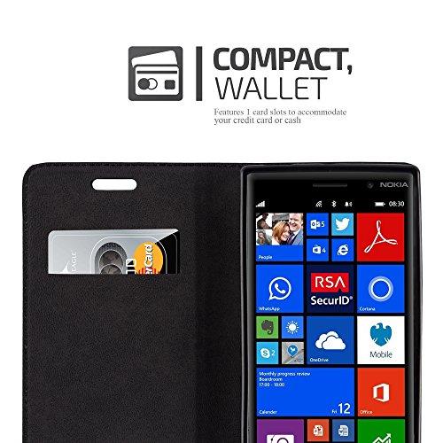 Cadorabo - Funda Book Style Cuero Sintético en Diseño Libro Nokia Lumia 830 - Etui Case Cover Carcasa Caja Protección con Imán Invisible en NEGRO-ANTRACITA ROJO-MANZANA