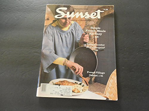 Sunset Mag Of Western Living Sep 1980 French Village Omelet
