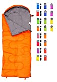 sleeping bag - REVALCAMP Sleeping Bag for Cold Weather - 4 Season Envelope Shape Bags by Great for Kids, Teens & Adults. Warm and Lightweight - Perfect for Hiking, Backpacking & Camping (Orange - Envelope Left Zip)