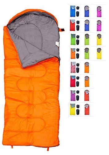Envelope Sleeping Bag Camping Lightweight Winter For Adults Youth Kids Girls Boy