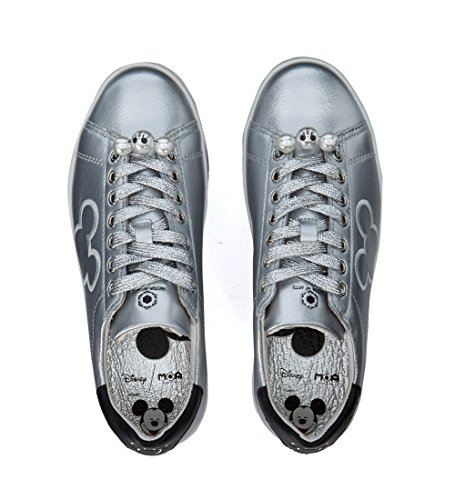 MD172 Suola Silver a Leather Righe MOA Donna Sneakers Platform wF8a87