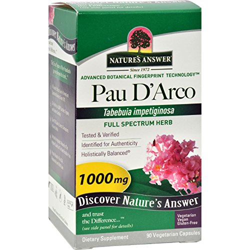 Natures Answer Pau d arco Inner Bark - 90 Vegeratarian Capsules - 1000 mg - Immune Support - Vegan - Gluten Free