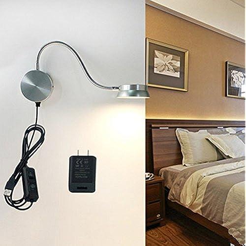 wall mounted bedside lamps amazon com