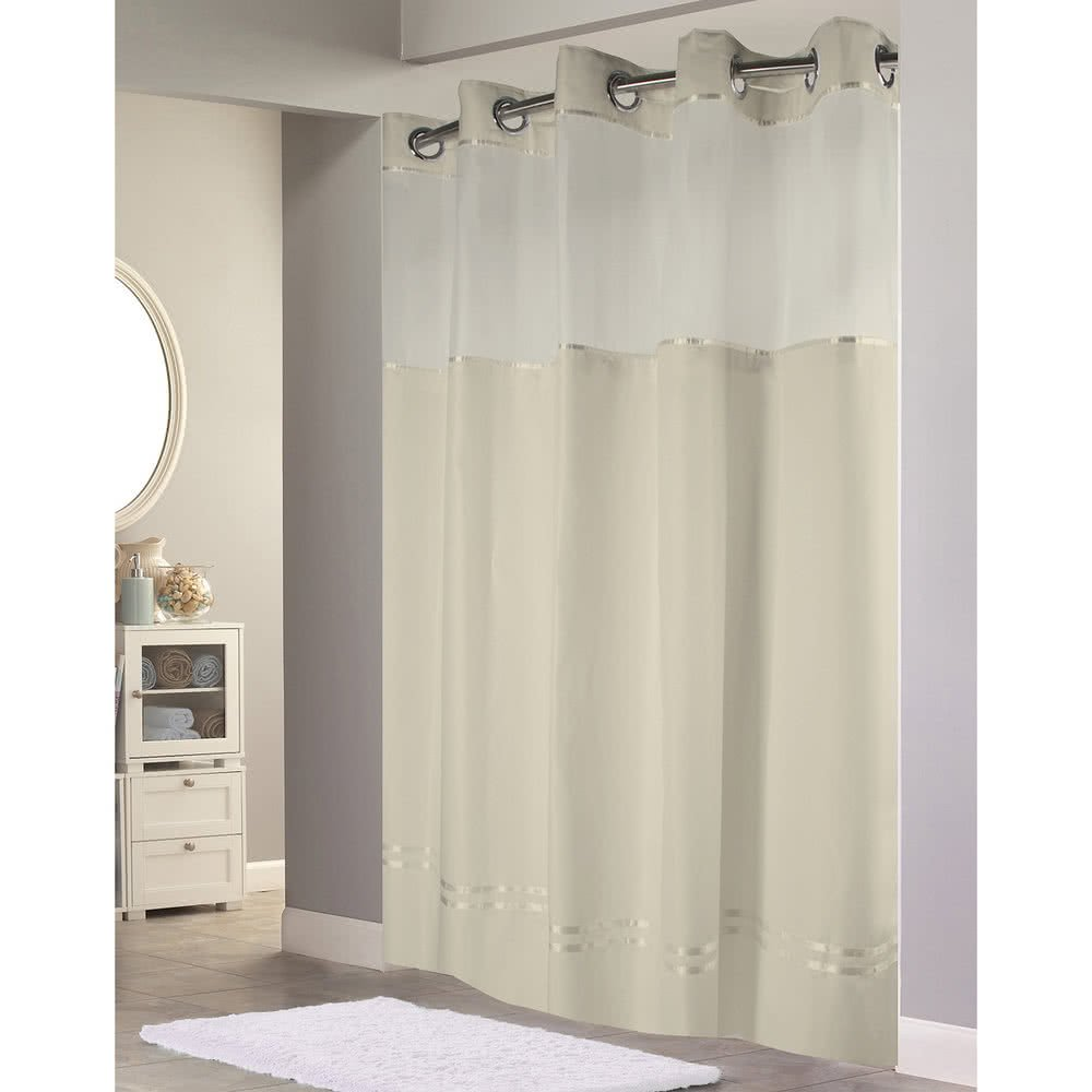 Amazon Hookless Monterey Hotel Quality Shower Curtain With Snap In Liner