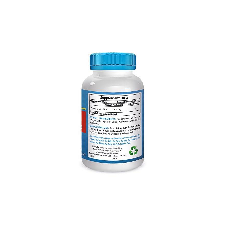 Nova Nutritions Acetyl L Carnitine 500 mg 120 Vcaps