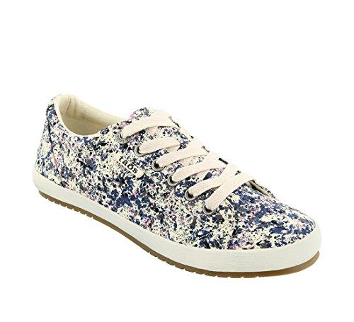 (Taos Footwear Women's Star Navy Sneaker Splash Sneaker 8 M US)