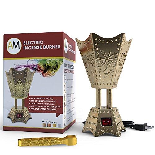 Electric Incense Bakhoor Burner Bronze, 110V by Attar Mist