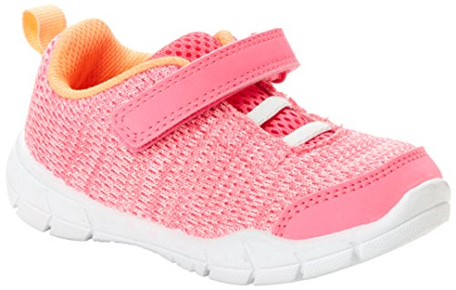 Simple Joys by Carter's Baby Jodynn Knitted Girls' Athletic Sneaker, Pink, 5 M US Toddler