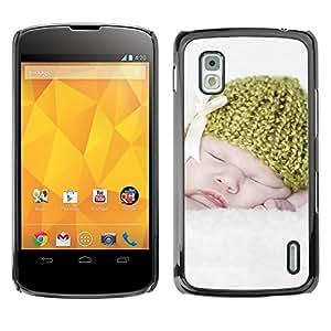 Be Good Phone Accessory // Dura Cáscara cubierta Protectora Caso Carcasa Funda de Protección para LG Google Nexus 4 E960 // Sweet Cute White Mother