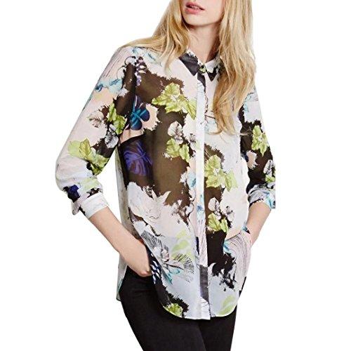 Femmes Sexy Shirts, Reaso Fleur Floral Imprimé Chemisier Manche longue En vrac V Neck Hauts