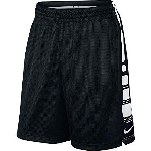 Men's Nike Elite Stripe Basketball Shorts Black/White Size Large