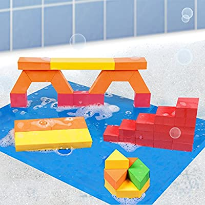 BathBlocks Stem Discovery Blocks Bathtub Toy: Toys & Games
