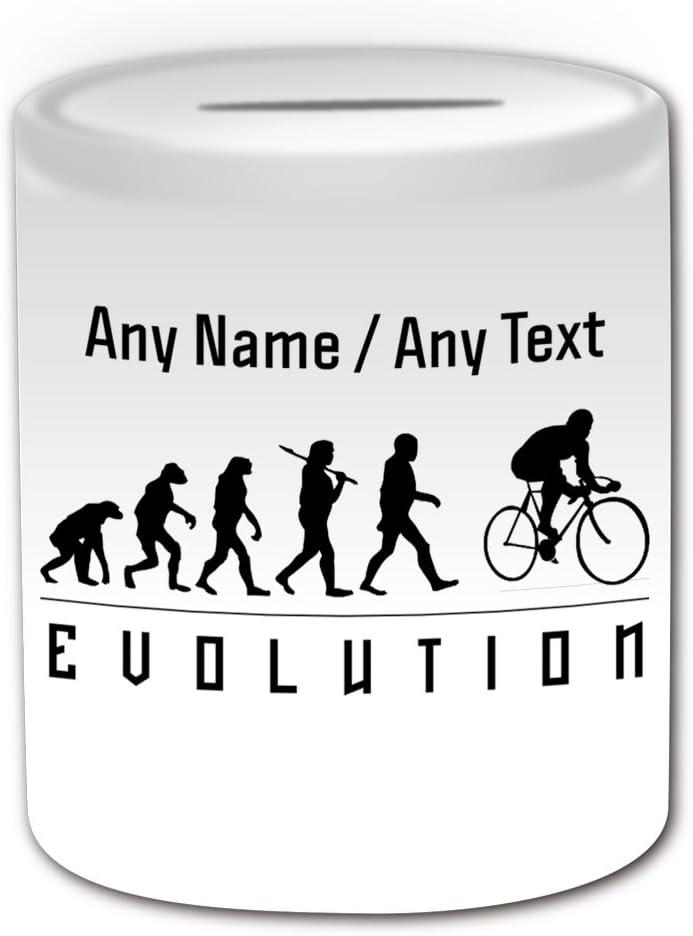 Personalizado regalo – caja de dinero de ciclismo (evolución tema de diseño, color blanco) – cualquier nombre/mensaje en su único – Equipo reproductor de silueta contorno contorno juegos olímpicos Juego Caso bicicleta