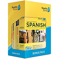 Learn Spanish: Rosetta Stone Bonus Pack (24 Month Subscription + Lifetime Download + Book Set)